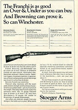 1971 Print Ad of Stoeger Arms Franchi Falconet Shotgun