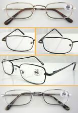 L45 3 Pairs Metal Reading Glasses/Spring Hinges/Classic Simple Style/Super Value