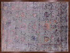 Wool & Silk Hand Knotted Persian Area Rug 9' X 12' - P9846