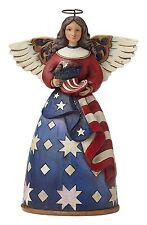 Enesco 4044664 Jim Shore Heartwood Creek Patriotic Angel in Flag Dress Figurine