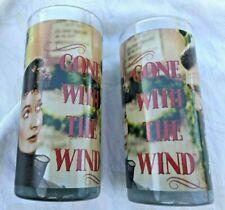 Gone With The Wind Juice Glasses Set of two Scarlett O' Hara Rhett Butler Gift