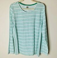 Christopher & Banks Women's Top Size XL Long Sleeves Casual Cotton Blend
