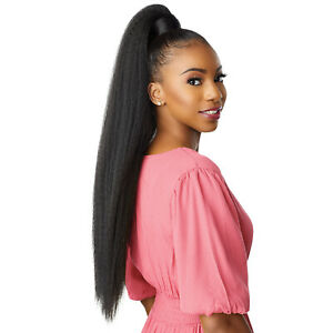 SENSATIONNEL SYNTHETIC PONYTAIL INSTANT PONY WRAP - KINKY STRAIGHT 30""