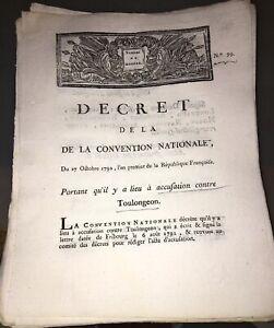 RÉVOLUTION.DOCUMENT SUR ACCUSATION CONTRE TOULANGEON (1792).