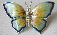 925 STERLING SILVER AND  ENAMEL BUTTERFLY