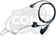 2 WIRE SURVEILLANCE EARPIECE HEADSET MIC - FOR MOTOROLA 2 PIN RADIOS AND MORE