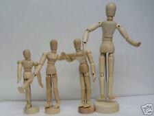 "Wooden Manikin Mannequin Sketch Figure Bendable Parts 5.5"""