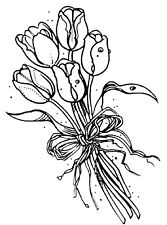 Mounted Rubber Stamps,  Flowers, Floral, Holland, Tulips, Dutch, Tulip Bouquet