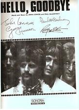 The Beatles Hello Goodbye Rare original Swedish sheet music printer's copy