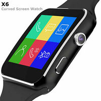 X6 Touch Screen Smart Watch Fitness Tracker For Android Support SIM Bluetooth