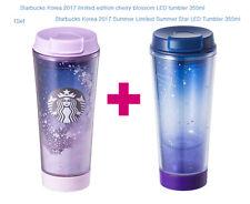Starbucks Korea 2017 limited cherry blossom LED+Star LED tumbler SET(355ml)