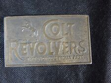 Colt Revolvers Arms Brass Belt Buckle the World's Right Arm VINTAGE MEN WOMEN
