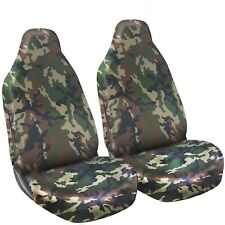 HEAVY DUTY FULLY WATERPROOF CAMOUFLAGE GREEN WOODLAND CAMO SEAT COVER PROTECTORS
