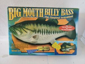 NEW 1998 Big Mouth Billy Bass Motion Activated Singing Fish Original Box Gemmy