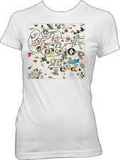 Led Zeppelin-III-Album Art X-Large Girl's Junior White Lightweight T-shirt