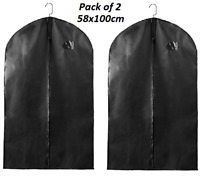 2 x Suit Bag Dress Clothes Bags Travel Protector Carrier Garment Bags Storage