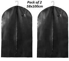 2 x Suit Bag Dress Clothes Bags Travel Protector Carrier Garment Bags Storage