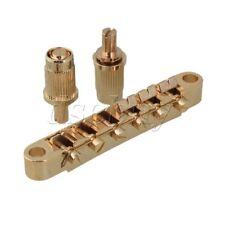 Gold Regular Saddle Bridge & 2 Wheels For Electric Guitar