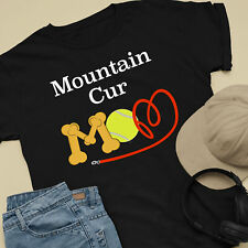 Mountain Cur Dog Mom and Dad Comfy Cute Dog Lover T-Shirt