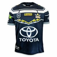 North Queensland Cowboys NRL 2019 ISC Navy Home Jersey Size Medium! T9