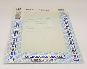 MIP Microscale N Scale 60-1079 Central of Georgia 40' and 50' Boxcars Decal Set