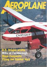 AEROPLANE 11/88 FEAF SUNDERLAND_WW2 RAF COASTAL COMMAND_HAWKER HART ROYAL NAVY F