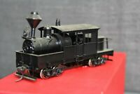 "Vintage Painted Brass HO Scale Class ""A"" Climax by Nakamura Seimitsu Model Train"