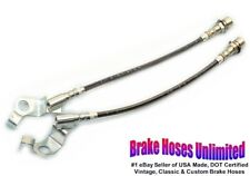 STAINLESS FRONT BRAKE HOSES Ford Galaxie 1967 Early, Before 10-15-1966, Disc