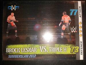 Slam Attax 10 WWE WWF OMG-Card Nr.77 Lesnar & Triple H Sammelkarte Trading Card