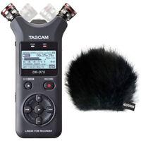 Tascam DR-07X Stereo Audio-Recorder + keepdrum Fell-Windschutz