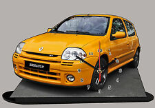MODEL CARS, RENAULT CLIO SPORT -02 with Clock,11,8x 7,8 inches and aluminium