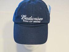 BEENTRILL ## Budweiser hat cap NEW RARE Adult mens adjustable back navy blue 1sz