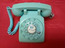 Vintage Stromberg-Carlson Aqua Blue Rotary Desk Phone - Working Condition