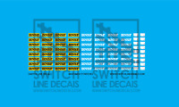 HO Scale BNSF Santa Fe Dash 9 Patch Decal Set Athearn Scale Trains MTH