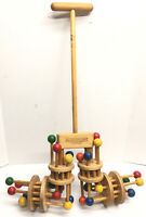 Vintage 'The Neat New Toy' by Kinderworks-From FAO Schwarz-Wooden Push Toy