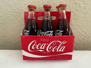 2006 COCA COLA COKE FULL GLASS COKE MINI MINIATURE BOTTLES 6 PACK IN CARTON
