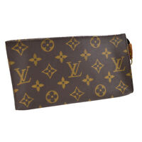 LOUIS VUITTON BUCKET PM PURSE ATTACHED POUCH BAG MONOGRAM CANVAS AUTHENTIC 34357