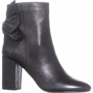 NIB Avec Les Filles Women Black leather Ankle Booties size 6 New in Box