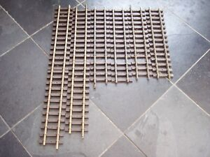 6 LGB/PIKO G SCALE MODEL RAILWAY BRASS TRACK STRAIGHTS