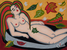 JACQUELINE DITT - Indian Summer DRUCK mittelgr. n.Gemälde Akt nude Bilder