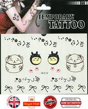 Kawaii impermeable de plantilla de tatuaje temporal transferencia pegatina Arte Corporal ym-k118