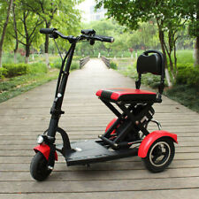 300W/36V FOLD & TRAVEL Senior Electric Mobility Scooter Lightweight Red W/ Seat