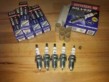 5x Volvo V70 2.3i T5 20v y2000-2004 = Brisk YS Silver Autogas,Petrol Spark Plugs