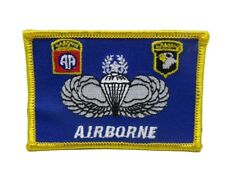 U.S. Military 101st 82nd Blue Airborne Flag Iron On Patch