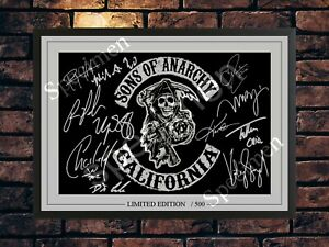 SONS OF ANARCHY CAST SIGNED LIMITED EDITION  AUTOGRAPHED A4 PHOTO MEMORABILIA