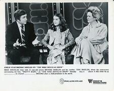 BROOKE SHIELDS TERI SHIELDS ON THE MIKE DOUGLAS SHOW ORIGINAL '76 TV PRESS PHOTO