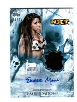 WWE Ember Moon 2018 Topps Undisputed Blue Autograph Relic Card SN 9 of 25