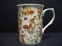 Rabbit Meadow Castle shape Fine Bone China Chintz Mug Cup beaker