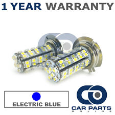 2X BLUE H7 60 SMD LED DIPPED BEAM BULBS FOR PEUGEOT 206 207 208 307 308 508