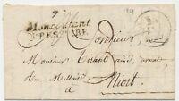 1829 Lettre Cursive Double 75 Montcoutant BRESSUIRE DEUX SEVRES Rare X3410